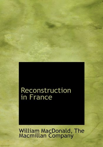 Download Reconstruction in France pdf