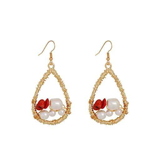 MURTIAL Women's Earrings Fashion Elegant Bohemian Metal Pearl Love Geometry Star Earrings Jewelry