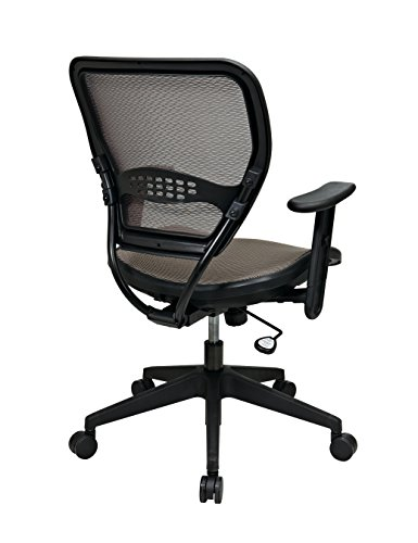 SPACE Seating AirGrid Latte Back and Mesh Seat, 2-to-1 Synchro Tilt Control, Adjustable Arms and Tilt Tension Nylon Base Managers Chair by Space Seating (Image #1)
