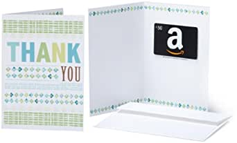 Amazon.com $50 Gift Card in a Greeting Card (Thank You Design)