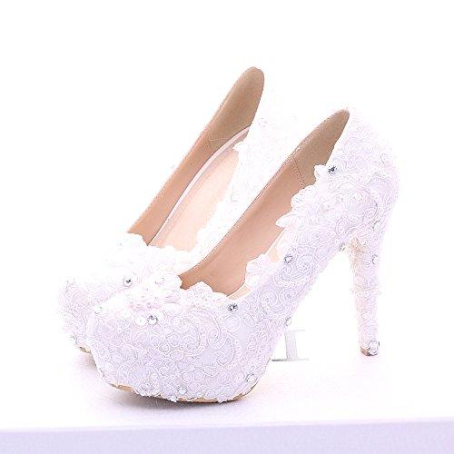 princesa boda XIE Zapatos las de tac la novia mujeres de y R017xw1