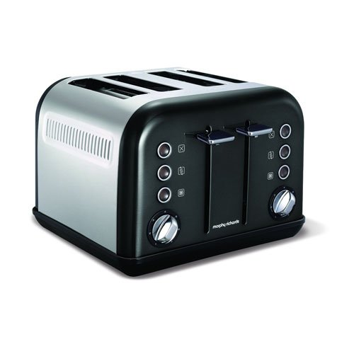 Morphy Richards Accents Four Slice Toaster - Black