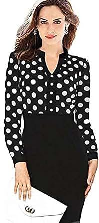 Prom Polka Dot Print Midi Dress L36021