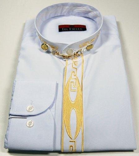 Del Pierro Herren Hemd Schwarz o Weiß mit Gold Stick und Stehkragen Langarm  Herrenhemd  Amazon.de  Bekleidung 4cff3a7340