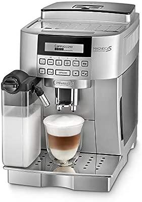 DeLonghi ECAM 22.366.S Cafetera combinada, Independiente, Totalmente automática, Molinillo integrado, 1450 W, 1,8 L, Plata