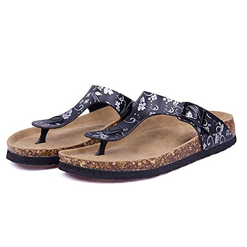 Cork Slip Flip Flops ZHOUZJ 9 Summer on Beach Shoe Casual Women Slipper Slides 8FSSnTx