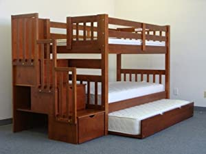 Stairway Bunk Bed Twin over Twin