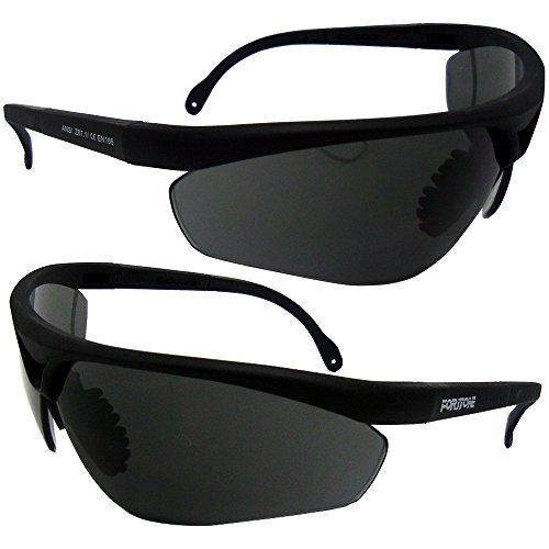 Foritone Luxplus Sunglasses with Clear Anti-Fog and Anti-Scratch Wrap-Around Lenses and No-Slip Grips, UV400 Protection. Adjustable, Perfect For Working,Hunting, Fishing, Cycling &Hiking (Black)