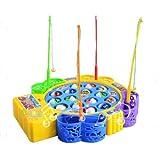 PerfectPrice Kids Children Fun Time Creative Rotating Fishing Music Game Developmental Toy