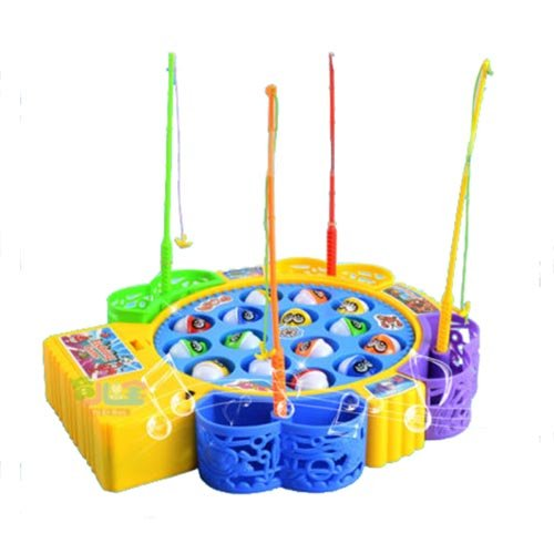 PerfectPrice Kids Children Fun Time Creative Rotating Fishing Music Game Developmental Toy by PerfectPrice