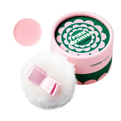 [THEFACESHOP] Lovely Meex Pastel Cushion Blusher 04, Long Lasting & Moisturizing Pink Cushion - 10g