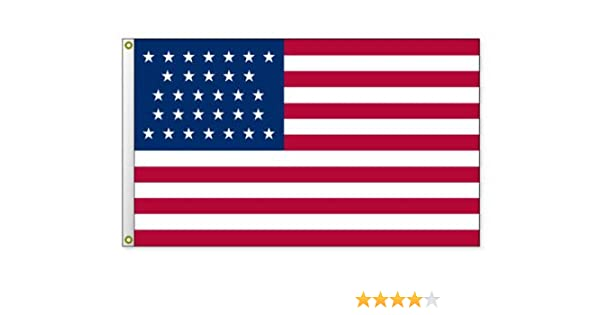 Commodore Perry Indoor Outdoor Dyed Nylon Historical Flag Grommets 3/' X 5/'
