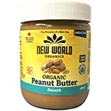 New World Foods Peanut Butter, Smooth Unsalted Organic 500g