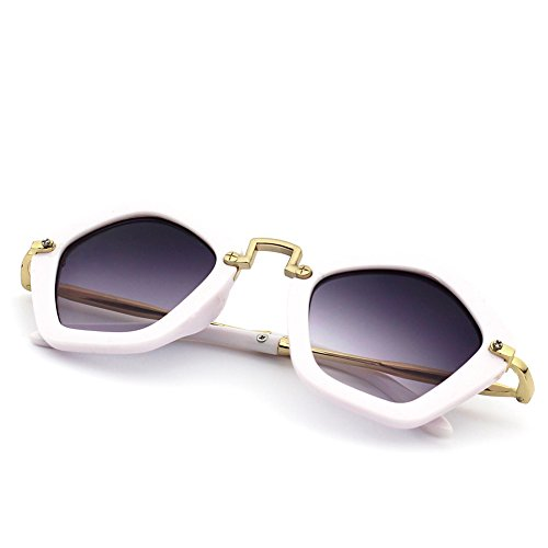 CMK Trendy Kids Cute Pentagon Kids Sunglasses Party Favors for Girls and Boys UV 400 Shades Age 3-8 - For Shades Girls