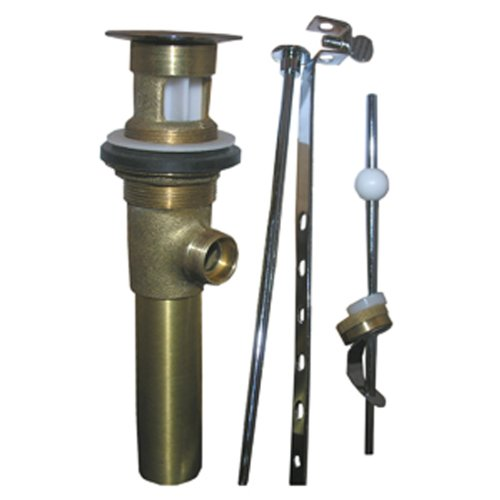 LASCO 03-4623 Lavatory Pop Up Drain Assembly with 1 1/4-Inch Tailpiece, Antique Brass (Tailpiece Assembly)