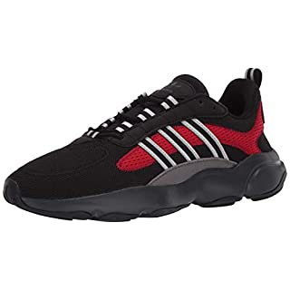 adidas Originals Men's Haiwee Sneaker, core Black/Silver met./Scarlet, 11.5 M US