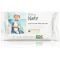 Naty by Nature Babycare Eco Baby Wipes with Aloe Vera, 12 Counts of 56 (672 wipes)