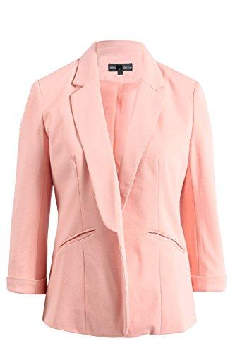 Nouvelle Femmes Mesdames extensible  manches 3/4?courtes Tour jusqu'avant Collier Casual Blazer Manteau pour femme UK 8C16 Pche