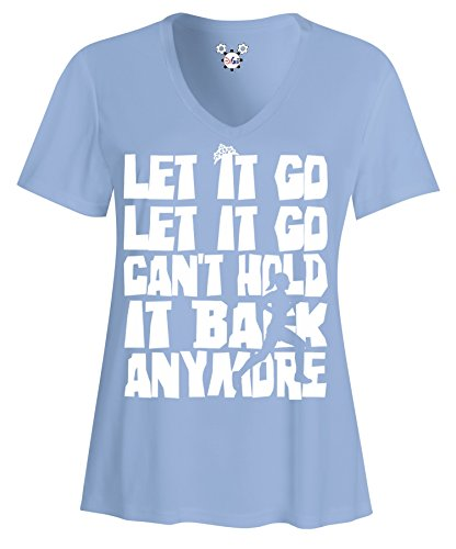 - DisGear Let It Go Running V-Neck Shirt (Medium - Prime, Light Blue - Performance)