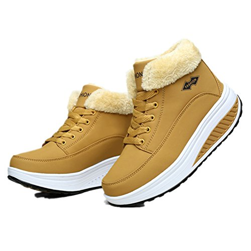 Ankle Jeff Velvet Winter Women Shoes Plus Platform 1 Snow padded Yellow Tribble Swing Thermal Boots Boots Cotton Flat 6rwCxt5q6