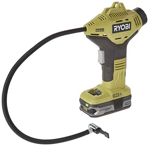 Ryobi P737+P107 ONE Plus Power Inflator with Compact Lithium Plus ()