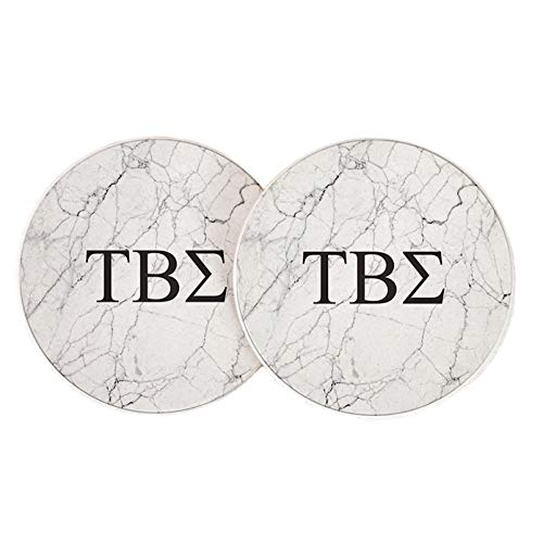 - Desert Cactus Tau Beta Sigma Sorority Absorbent Sandstone Car Cup Coaster (Set of 2) Licensed Product (Light Marble)