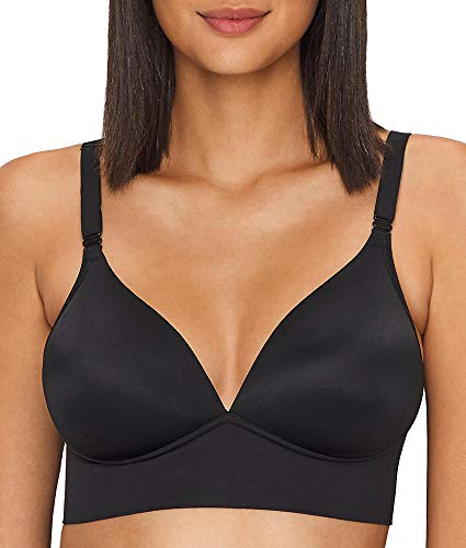 Warner's Elements of Bliss Wire-Free T-Shirt Bra, 40DD, Rich Black Bliss Wire Free Bra