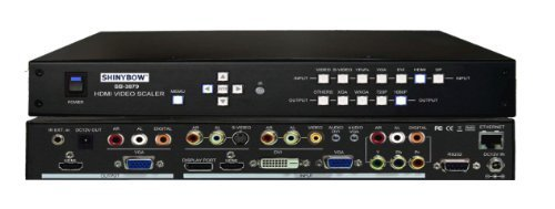 Shinybow 7x2 Mirrored Multi-Format HDMI Video Scaler Selector - Shinybow S-video