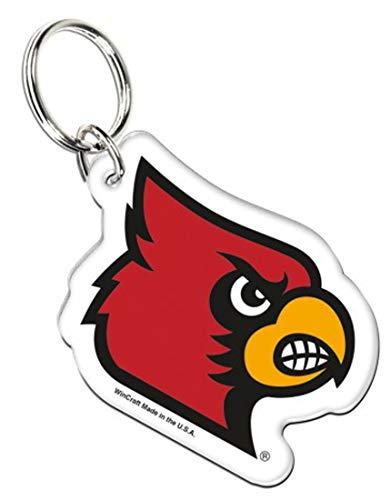 WinCraft Bundle 2 Items: University of Louisville Cardinals Acrylic Key Ring and Stwrap Bag Id by WinCraft (Image #1)