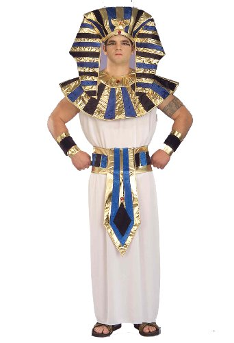 Forum Super Tut Deluxe Costume, White, (Egyptian Man Adult Wig)