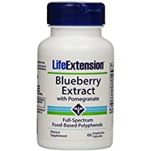 Life Extension Blueberry Extract w/ pomegranate, 60 vegetarian capsules