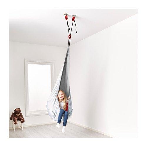 Ikea Ekorre Hängesessel Mit Luftkammer Sagosten Silberrot 30x22cm