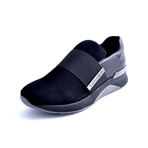 De Caf Las Bajas Da937 Cafènoir Nero Se Cafè Deslizan Zapatillas En Zapatos Deporte Los Noir Mujeres Negros Elástica xYEwxpqRF