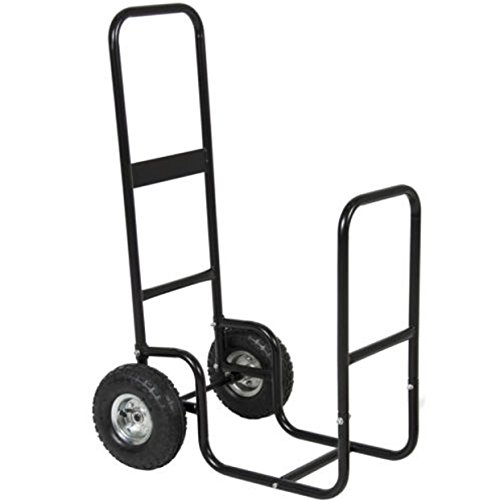Cart Firewood Wheels Carrier Log Fireplace Wood Mover Hauler RAck Rolling Dolly Storage Wheel