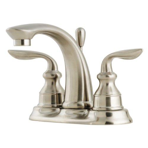 Pfister T48CB0K Avalon 4-Inch Centerset Bathroom Faucet, Brushed Nickel