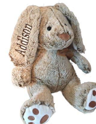 Personalized Plush Bunny-14 inches Tall- Stuffed Animal-Baby Gift -