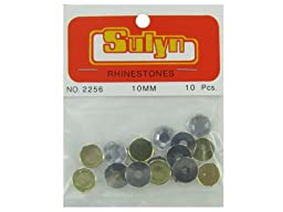 Bulk Buys CN449-72 10 Piece 10mm Rhinestones - Pack of 72