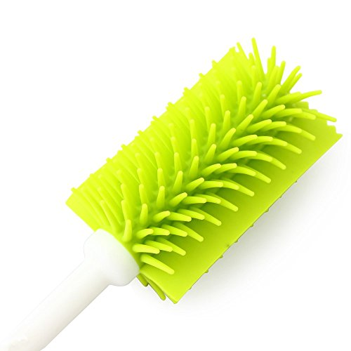Nature Worship Extended Cup Cleaning Brush, Long Handle Nano Bottle Brush,Green by NATURE WORSHIP (Image #1)