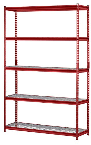 Muscle Rack UR184872-R 5-Shelf Steel Shelving Unit, 48