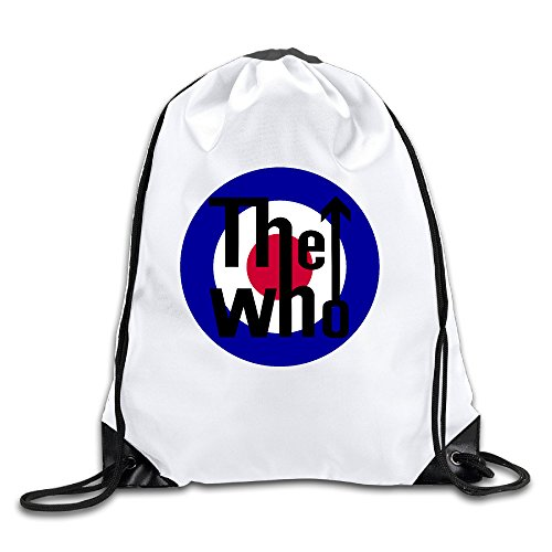 Gucci White Patent Leather (BYDHX The Who Band Logo Drawstring Backpack Bag White)