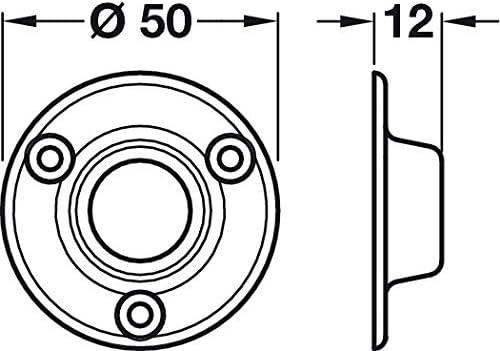 Schrankrohr Rundstab Sockel Ende Unterst/ützung Halterung Ringe wei/ß 19/mm Heavy Duty X4