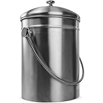 Amazon Com Kitchen Compost Bin X Chef Stainless Waste