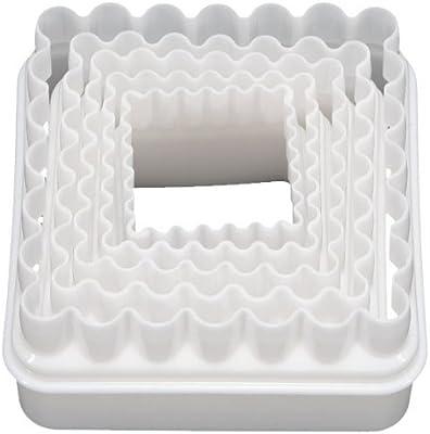 Generic Fjs 5 Pcs Blanc Moule Carre En Plastique Biscuit