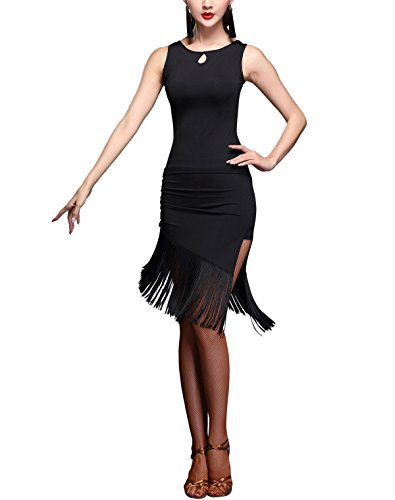 (Salsa Cha Cha Tango Jive Ballroom Dance Costume Skirt Outfits for Practice,)