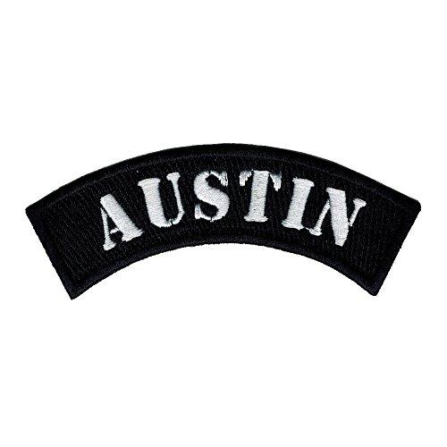 Austin City Rocker/biker 4 Inch Width Diy Embroidered Iron on / Sew on Patch #C15