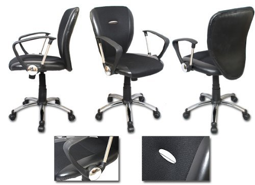 The Green Group Mitchell Executive Mesh Office Chair with Chrome Base and Lumbar Support