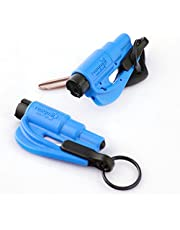 Resqme The Original Keychain Car Escape Tool, Made in USA, Blue, Pack of 2