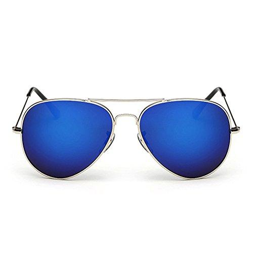 pour De Et Soleil Femmes TESITE Film Hommes PolariséEs Argent Monture De Bleu Protection UV 100 Lunettes Lunettes wqUYzRI