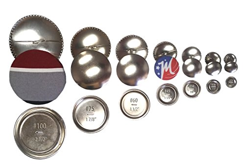 - 5 Cover Buttons with Teeth, Size 100 - Self Cover Snap Buttons