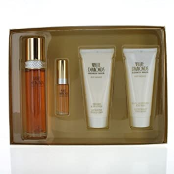Elizabeth Taylor White Diamonds Gift Set 3.4oz 100ml EDT 3.4oz 100ml Body Lotion 3.4oz 100m